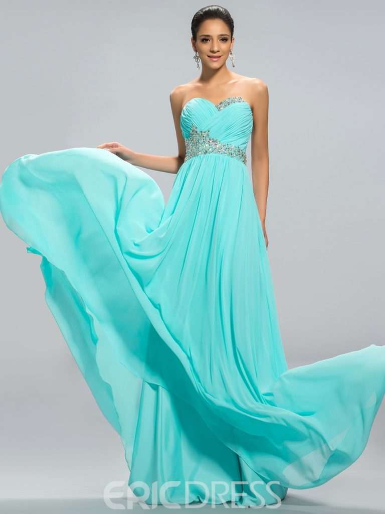 Ruched Sweetheart A-line Floor-Length Prom Dress