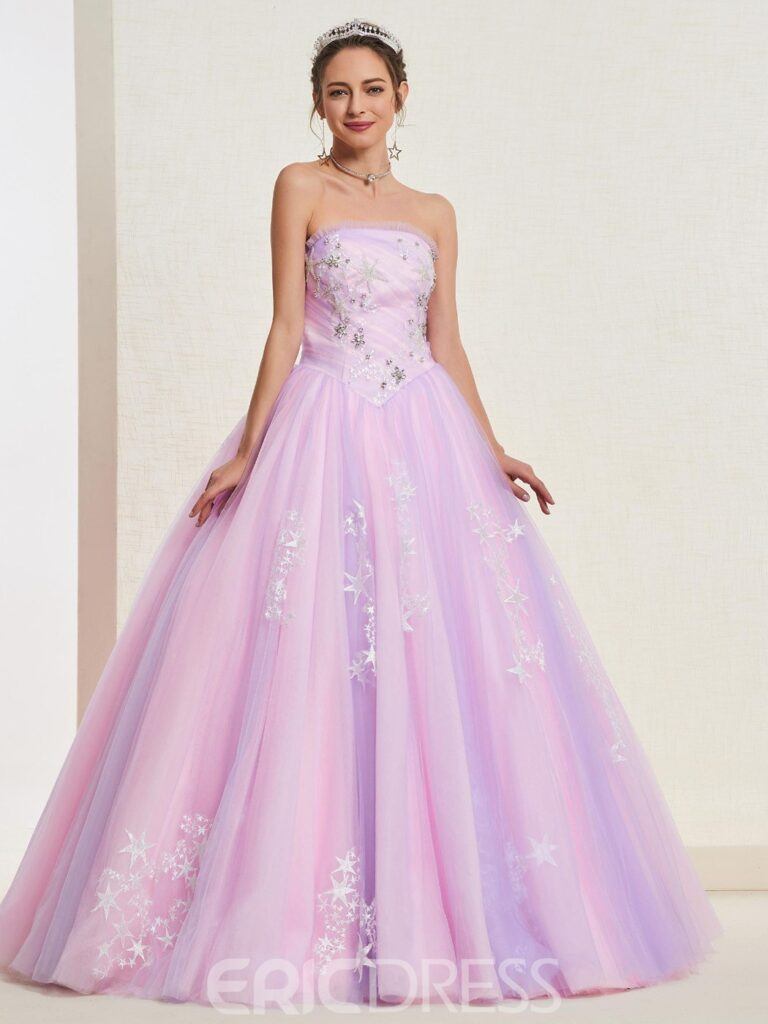 Pick-Ups Strapless Ball Gown Quinceanera Dress